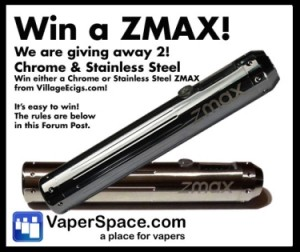 Vaper Space Announces A ZMAX Giveaway Contest